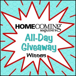 Winners for March 2014 All-Day Giveaway