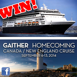 Finalists Announced in the Gaither Homecoming Cruise giveaway