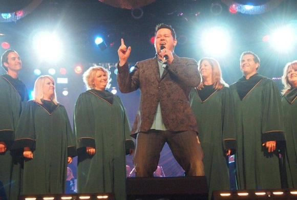 Bradley Knight with members of the  Christ Church Choir