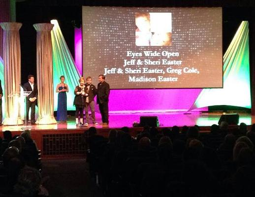 The Easters receiving their Dove Award