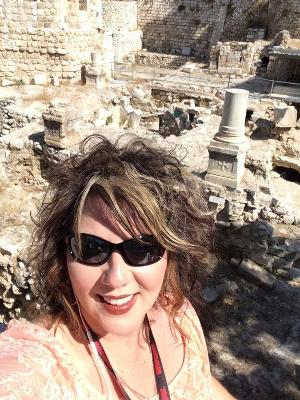 Becky at the pool of Bethesda