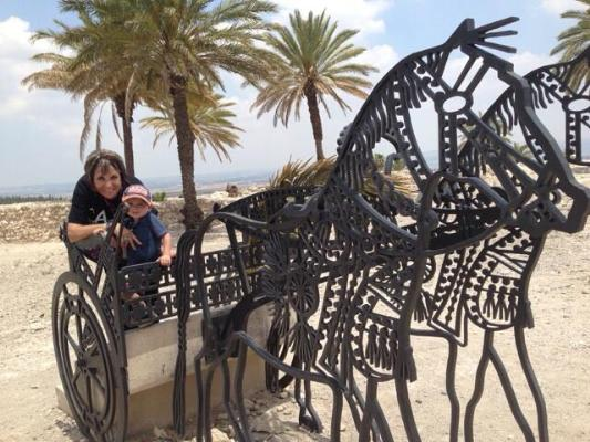 Grandma Lily and Ayden at Caesarea by the sea