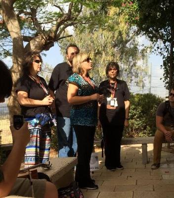 Singing the Lord's Prayer on the Mount of Beatitudes