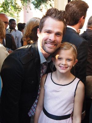 Gaither Vocal Band's Adam Crabb with his daughter Hannah Grace