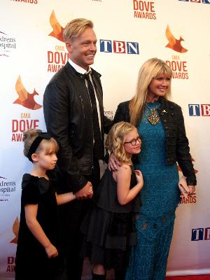Natalie Grant with husband Bernie Herms and daughters Bella and Gracie