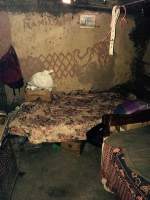 Inside Alba's home