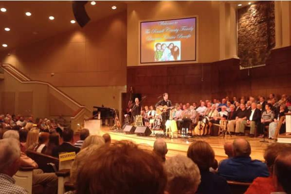 The Russell Springs First Baptist Church was packed!