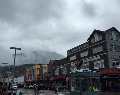 A few clouds in Ketchikan, Alaska