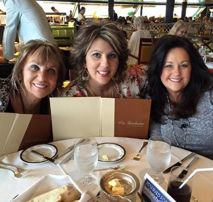 Lily and Becky Isaacs dine with Ladye Love Smith