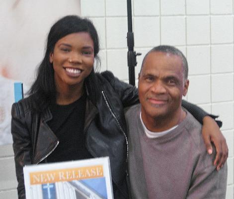 Patience Randle with her dad, Michael
