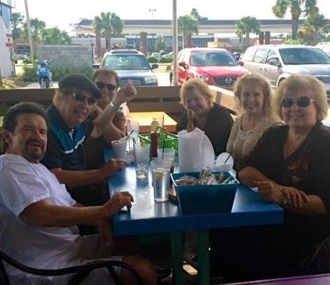 Lunch bunch – L-R Russ Taff, Bill Gaither, Jeff Easter, Sheri Easter, Tori Taff, Gloria Gaither