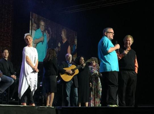 Mark Lowry shows up for a surprise visit
