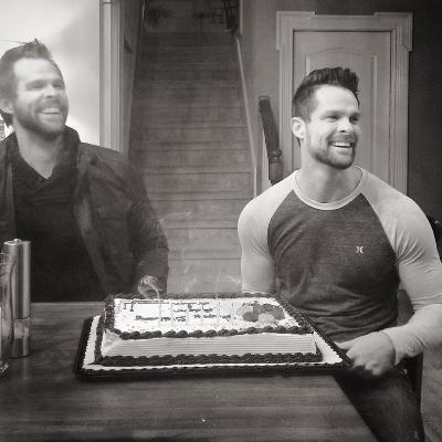 Twins Aaron and Adam Crabb celebrate their November birthday