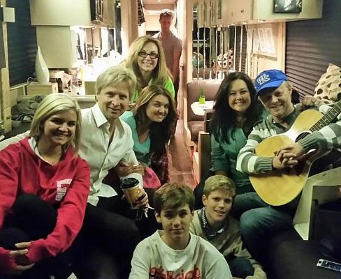 """The Nelons post, """"Our friends Reggie, Ladye & Brett Smith dropped in for a truck stop visit."""""""