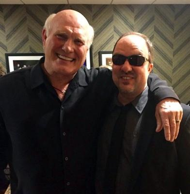 Opry at the Ryman, huge sports fan Gordon Mote is thrilled to meet football hero Terry Bradshaw