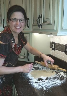 Kim Collingsworth making biscuits