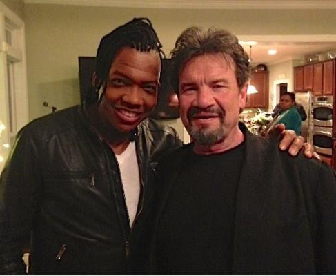 Russ again, with the Newsboys' Michael Tait (who is Lynda Randle's brother!)