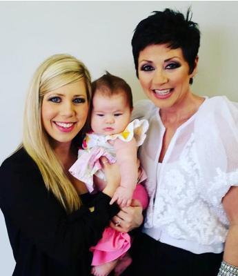 Candy Christmas with her daughter Jasmine and granddaughter Adele