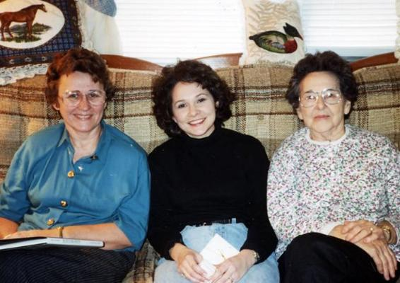 Alison Speer with Mom Sue and Granny Alice