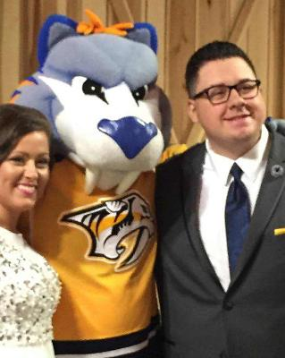 Gnash, mascot for the Nashville Predators hockey team, is a special guest!