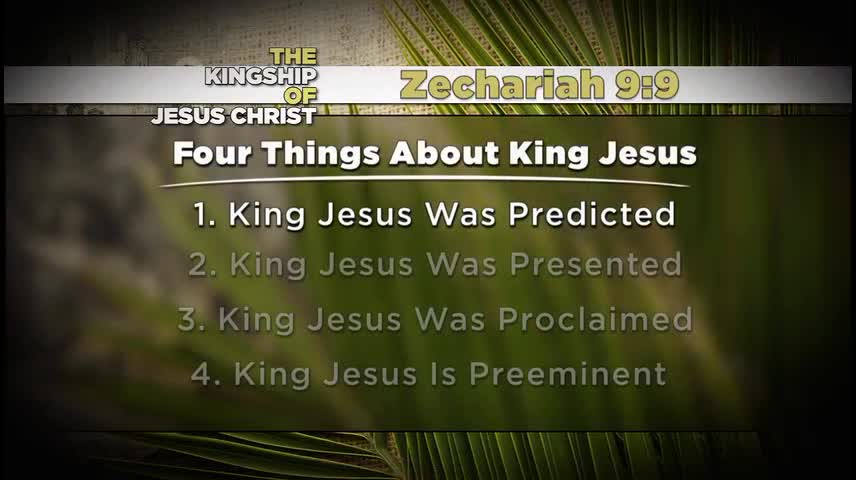 The Kingship of Jesus (Palm Sunday)