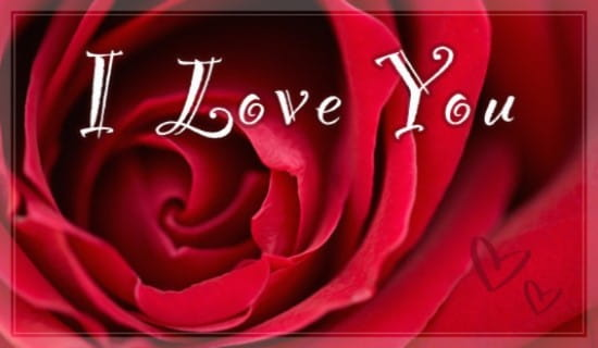 Free I Love You eCard - eMail Free Personalized Love eCards Cards Online